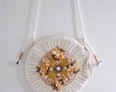 MISS Autumn Bee - floral beadwork circle handbag