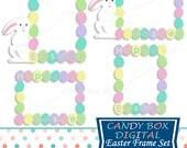 Easter Digital Frames, Easter Frames, Easter Clipart, Easter Clip Art, Frame Clipart, Frame Clip Art - Commercial Use OK