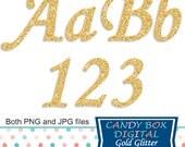 Gold Glitter Alphabet, glitter font, gold alphabet, gold cursive, glitter alphabet, blog alphabet, digital alphabet - Commercial Use OK