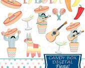 Fiesta Clipart, Pinata Clip Art, Pinata Clipart, Fiesta Clip Art, Mexican Clipart, Mexican Clip Art, Chili Pepper Clipart - Commercial OK