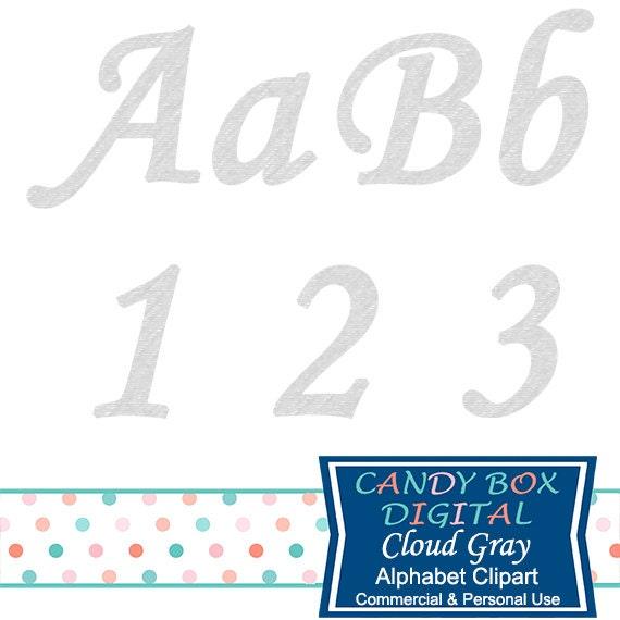 Gray Alphabet Font: Gray Cursive Alphabet Clipart, Gray Script Font Clip Art
