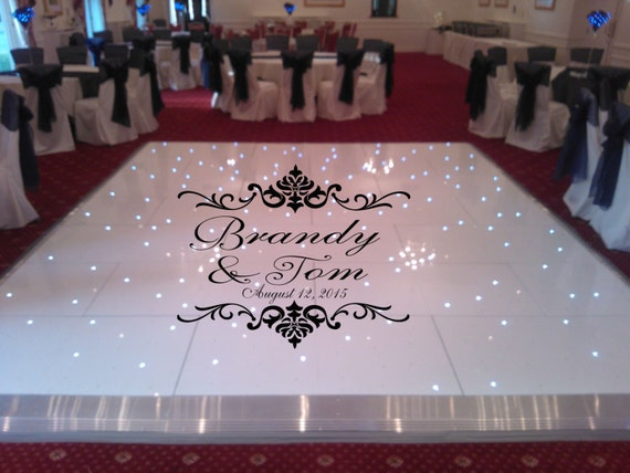 Huge Damask Theme Dance Floor Decal Wedding Day Fancy