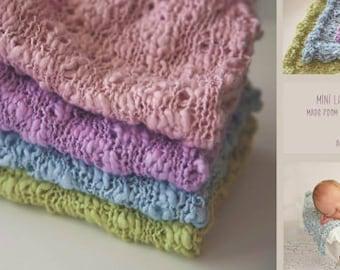 Little Dreamers Newborn Layering Blanket, Baby Knit Blanket, Newborn Photo Prop, RTS