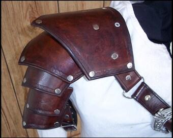 Celtic Leather Pauldron