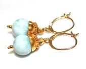 Larimar Earrings Caribbean Larimar Jewelry Beach Earring Beach Jewelry Holiday Style Caribbean Jewelry Blue Earring Ocean Earrings FizzCandy