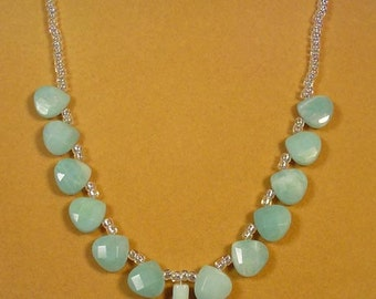 """Unique 20"""" Amazonite Necklace and Earrings SET - S077"""