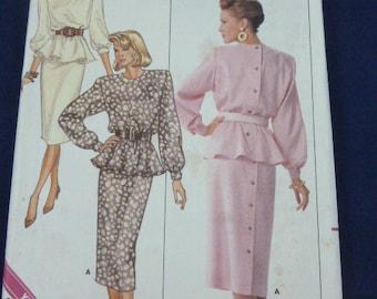 Butterick 5836 SZ 6 8 10 Pattern Misses Petite Top Skirt 1987 Uncut