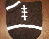 Infant Football Set, Newborn Cocoon Set, Baby Boy Football Swaddler Photo Prop, Football Bunting Gift Set, Going Home Outfit, Christmas Gift
