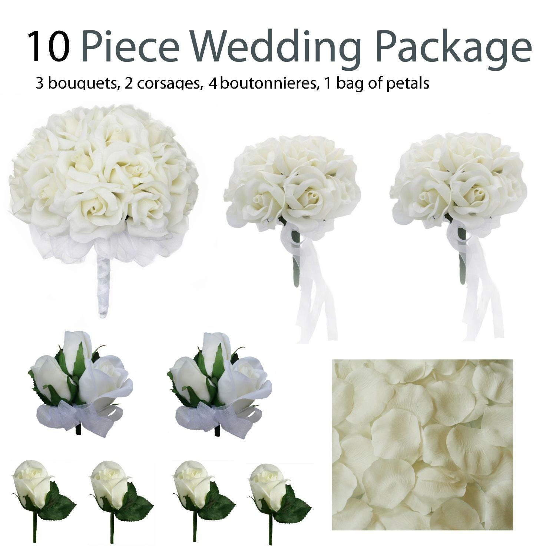 Wedding Flower Packages Mayo : Piece wedding package silk flowers bridal