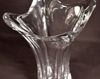 Crystal Vase Mid Century Art Glass Cofrac Art Verrier French