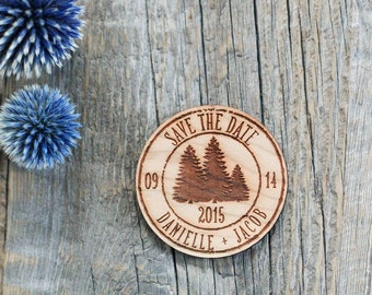 Custom Engraved Wedding Invitation, Mountain Wedding Invitation, Save the Date, Wedding Wood Favor, Winter Wedding Invite