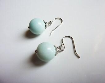 Opague Teal Amazonite Earrings