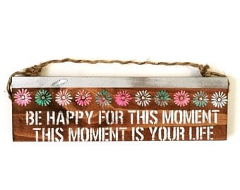 Be Happy /  Buddha sign / beautiful / anthropologie/ urban outfitters/ brandy melville  / wall hanging / decor / art / gift / wholesale