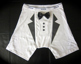MENS UNDERWEAR; tuxedo; wedding gift; groom gift;  husband; birthday gift; fathers day gift; wedding party gift