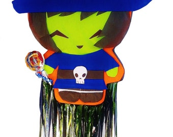2D Pinata Halloween Witch | Fun Party Game | Halloween Party Decor | Monster Pinatas | Witch Theme Party | Party Decor | Candy Centerpiece