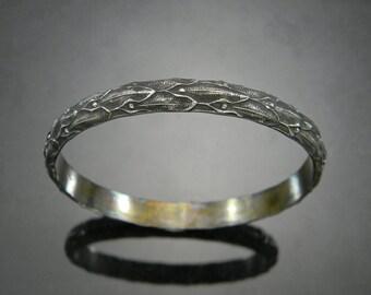 Heavy Sterling Bracelet, Heavy Sterling Bangle, Heavy Silver Bangle, Heavy Silver Bracelet