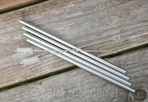2 Straw Cleaners for Wide Eco Friendly Stainless Steel Straws DIY Weddings, Parties, Everyday Use
