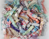 Vintage Hair Ties, 10pc/20pc Print Hair Bands, Bracelets - Grab Bag, Floral, Pastel, Metallic - Girls, Women, Gift for Her, Stocking Stuffer