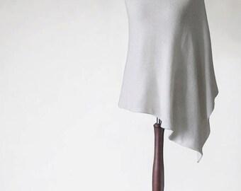 Silk poncho, bridal poncho, white poncho, knit poncho, wedding scarf, wrap women, bridal scarf,wrap sweater,cover up,bridal cape,white scarf