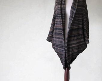 Women cardigan, knit sweater, brown poncho, wrap sweater, women sweater, brown sweater, knit cape, kimono sweater, open cardigan,knit poncho