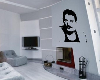 Freddie Mercury Portrait - Wall Art Sticker