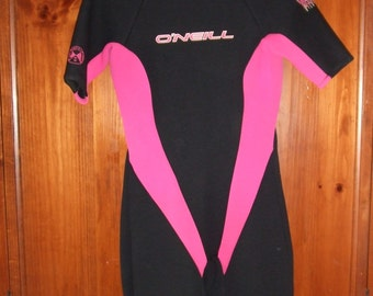 O'Neill Reactor Pink & Black Spring Wetsuit Women's Size 14