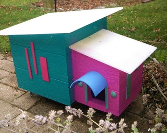 cat shelter outdoor house mid century modern design outdoor for feral cats handmade unique design