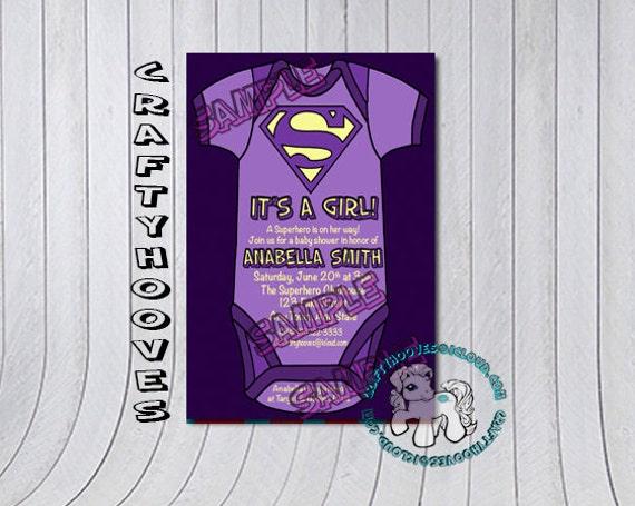 superhero superman baby shower it 39 s a girl party invitations u print