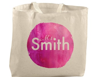 Personalized Tote Bag Personalized Bag Personalized Teacher Bag Canvas Tote Bag Canvas Tote Personalized Gifts for Teacher Gifts Reusable