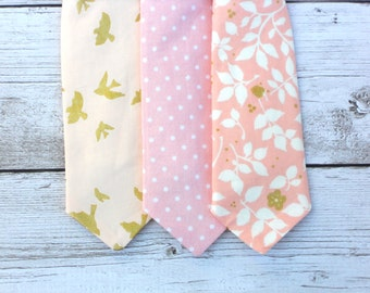 Blush ties for boys, blush wedding ties, ring bearer neck tie, ring bearer outfit, boys wedding outfit, toddler ties, boys pink tie