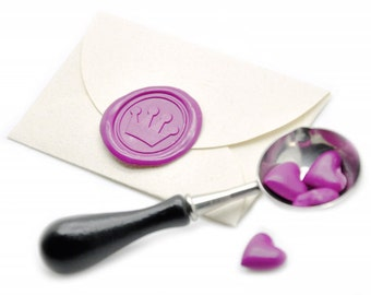 Cute Crown Wax Seal Stickers - Available in 27 Colors