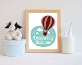 INSTANT DOWNLOAD. 8x10. Dream big little one. Nursery decor