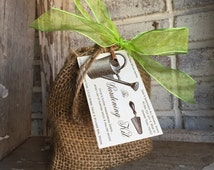 SPRING GARDENING KIT {{Tucked in a burlap bag, includes natural hand soap, natural herbal salve & wooden nail brush}}