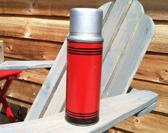 1950's Vintage Red and Black Icy-Hot Thermos