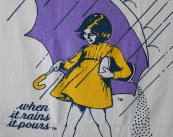 vintage MORTON SALT GIRL extra large Towel Southern Terry 60 x 47 inches