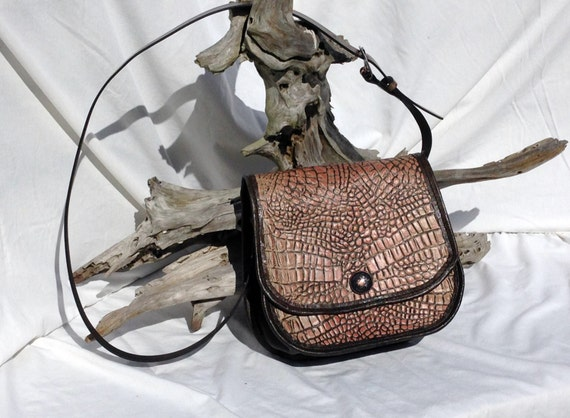 Alligator Embossed Leather Purse