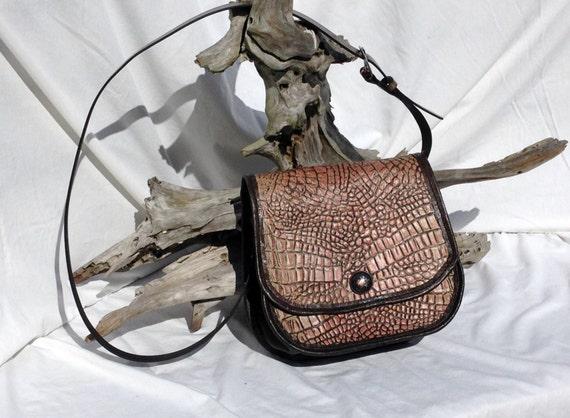 Alligator Embossed Leather Purse