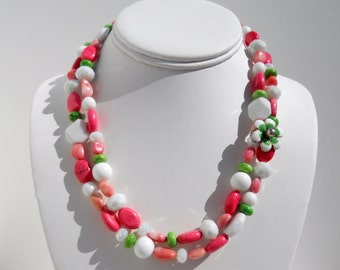 Ainsley Pink and Green Necklace