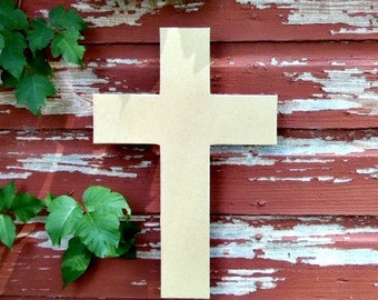 Unfinished MDF Wooden Cross #43