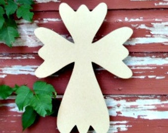 Unfinished MDF Wooden Cross #51