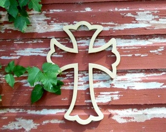 Unfinished MDF Wooden Cross #62a
