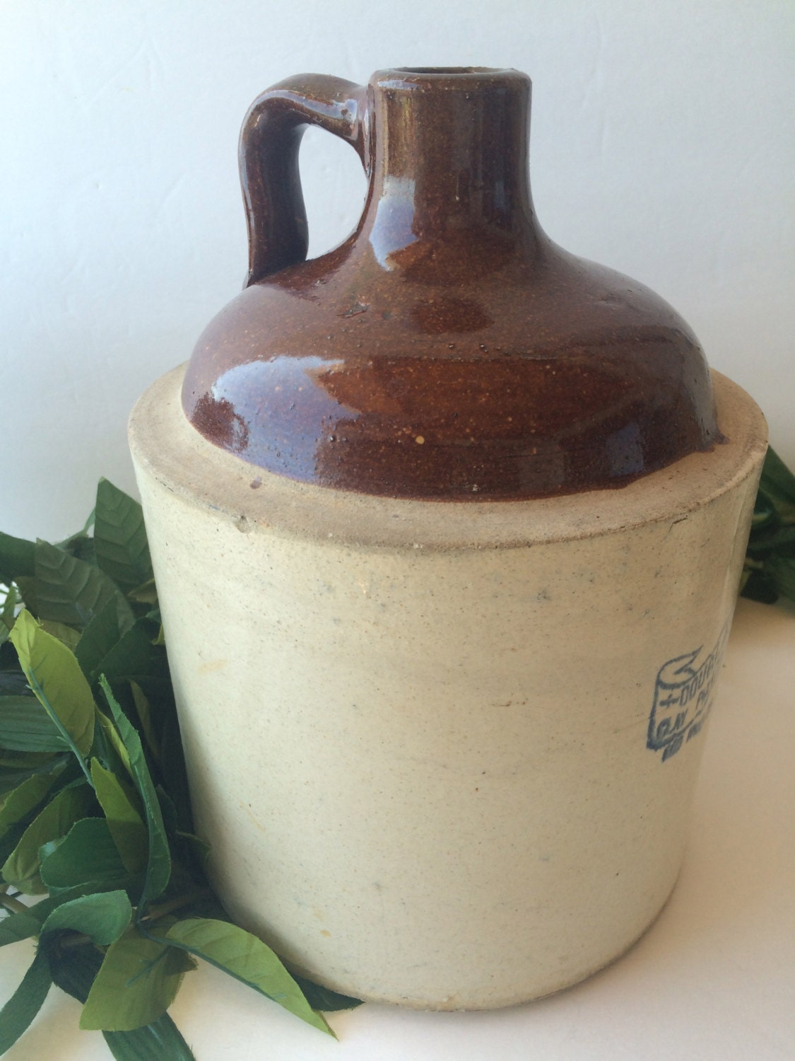 Reserved Reagan Antique Clay Whiskey Jug Douglass Clay