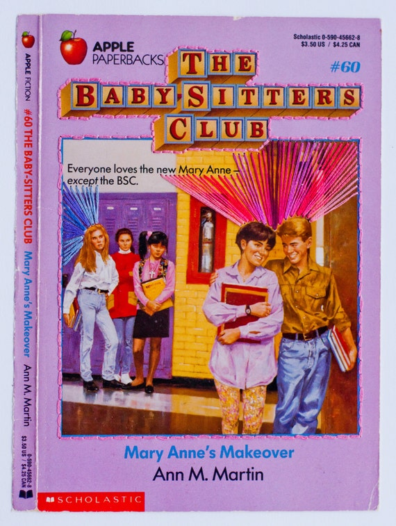 Embroidered Book Cover - The Baby-Sitters Club: Mary Anne's Makeover