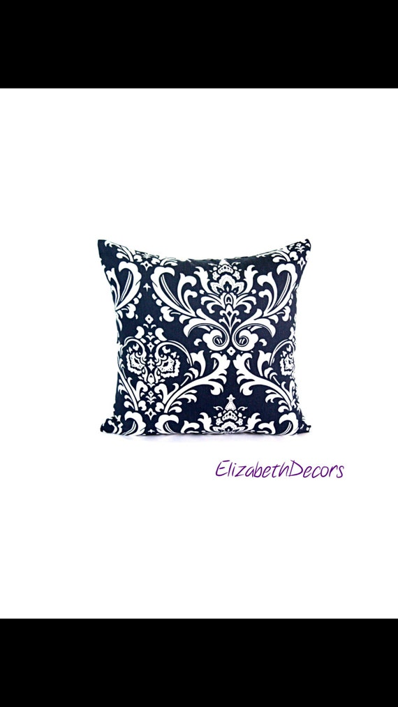 18x18 Black and White Decorative Pillow Cover