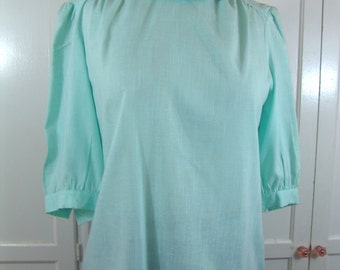 Sale Vintage Petal Collar Cotton Blouse