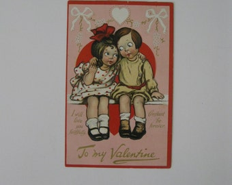 Valentine's Day Vintage Post Card - K Gassaway, unsigned -  Loving Hearts Series #14 - Raphael Tuck and Sons - Used - 1910