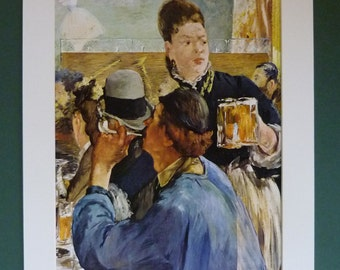 Édouard Manet Print of The Waitress, Available Framed, Cafe Art, Impressionist Gift, French Wall Art, Old Parisian Decor, Paris Picture