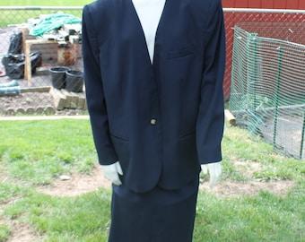 Navy Blue Two Piece Suit by Jones Wear