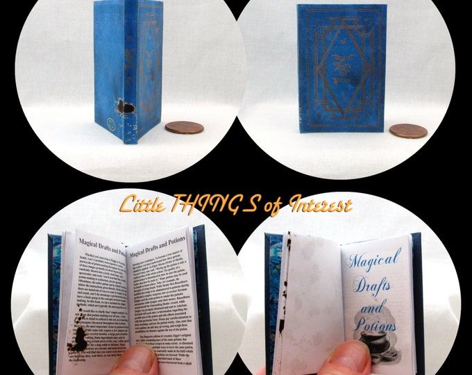 MAGICAL DRAFTS And POTIONS Book in 1:3 Scale Readable Book Harry Potter 18 inch Ag Doll 1/3 Scale