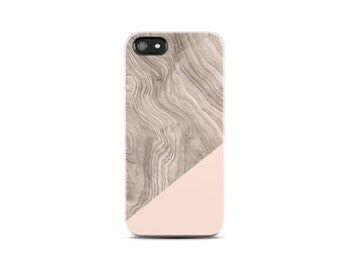Unique iPhone Case Wood Print iPhone 5 Case Wood Print iPhone 4 Case Wood Geometric Case Beige iPhone 6 iPhone Cover Wood Print Pink Cream